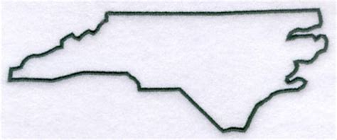Carolina Outline by Machine Embroidery Designs At Embroidery Library Embroidery Library