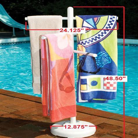Swimming Pool Towel Rack freestanding pvc towel rack for swimming pool indoor outdoor spa shower tub