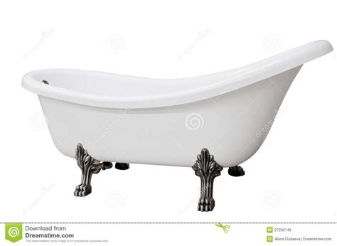 image of bathtub classic white bathtub with legs royalty free stock photo