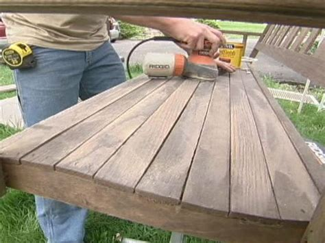 how to make a porch swing how to refinish a porch swing how tos diy
