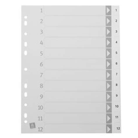 12 tab divider template avery divider a4 1 12 tab polypropylene white officeworks