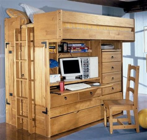 loft bed plans  double  usable space bed