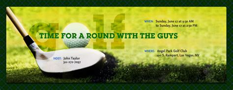 Golf free online invitations