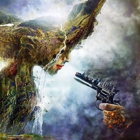 betrayal surreal illustration about global warming