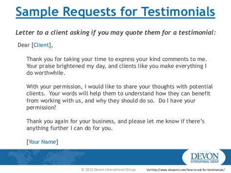 Customer Testimonial Email Template Asking For Testimonials