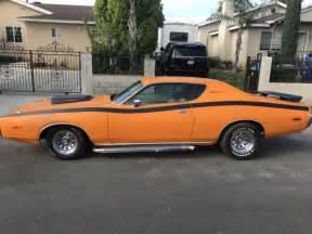 1972 dodge 318 engine 1972 dodge charger 318 v 8 orange for sale