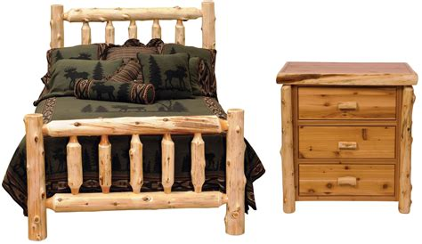 log bedroom sets traditional cedar log bedroom set from fireside lodge