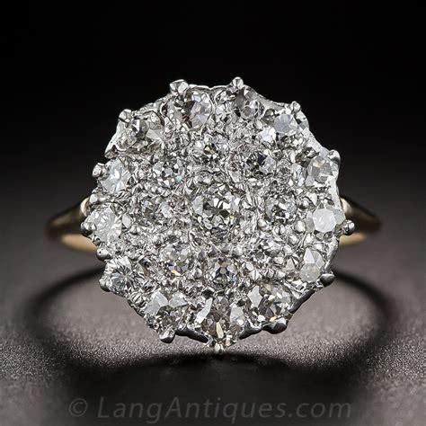 vintage cluster engagement rings 171 diamantbilds