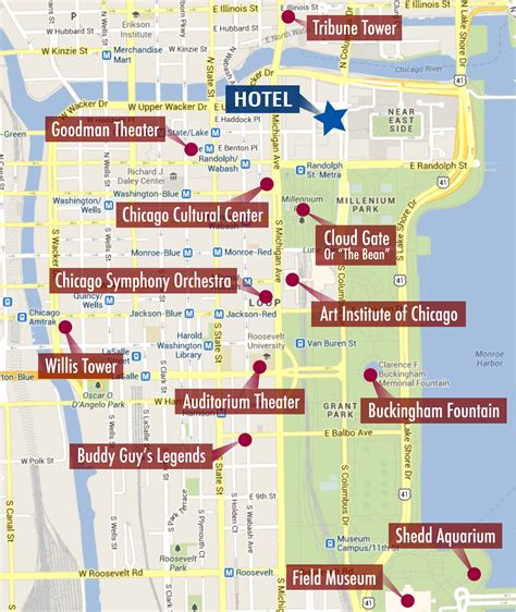 chicago map landmarks maps update 14882105 tourist map of chicago chicago