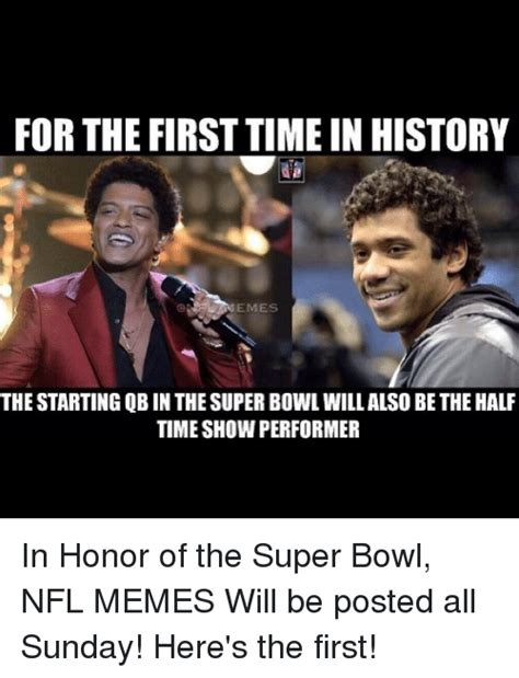Super Bowl Sunday Meme - for the first time in history emes the starting qb in the