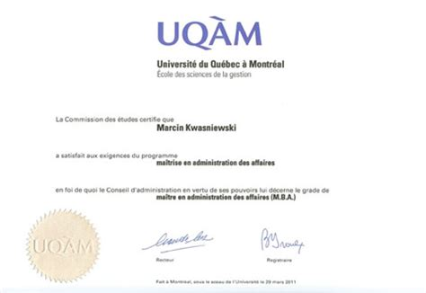 Executive Mba Montreal by Dyplom Gt Canadian Executive Mba Cemba