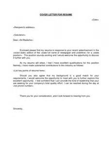 How To Do A Cover Letter For Cv by Sle Cover Letter With Attached Resume Resume Template