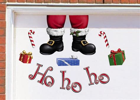 hohoho santa claus funny christmas garage magnets outdoor