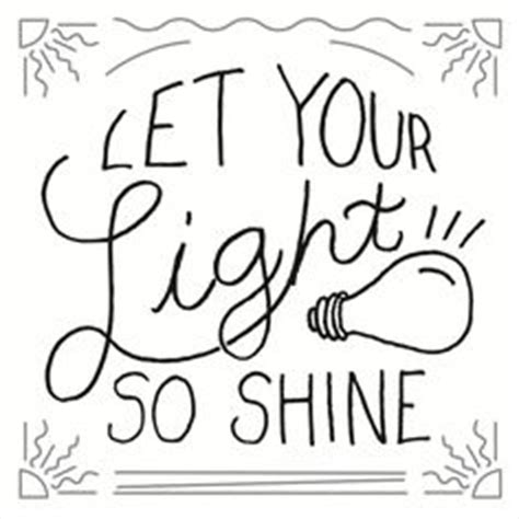 let your light shine coloring pages coloring pages