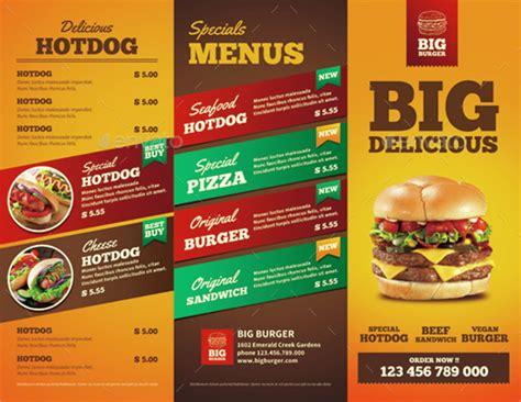 food brochure templates 7 free psd vector ai eps