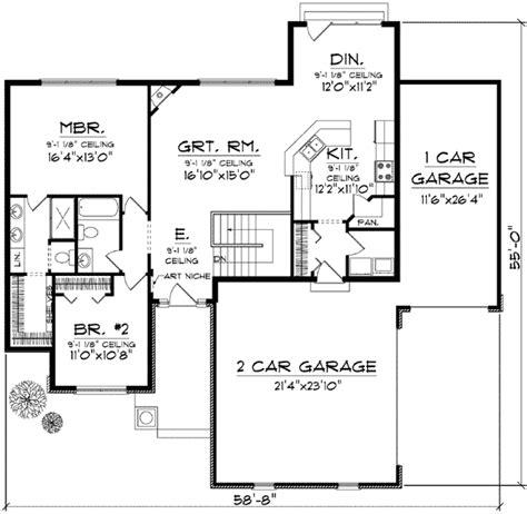 craftsman open floor plans craftsman with open floor plan 89652ah architectural