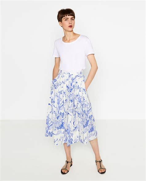 printed midi skirt skirts sale zara united states
