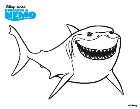 nemo shark coloring pages free coloring pages of finding nemo shark