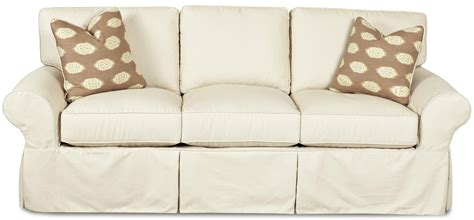How To Slipcover klaussner patterns slipcovered sofa with rolled arms and