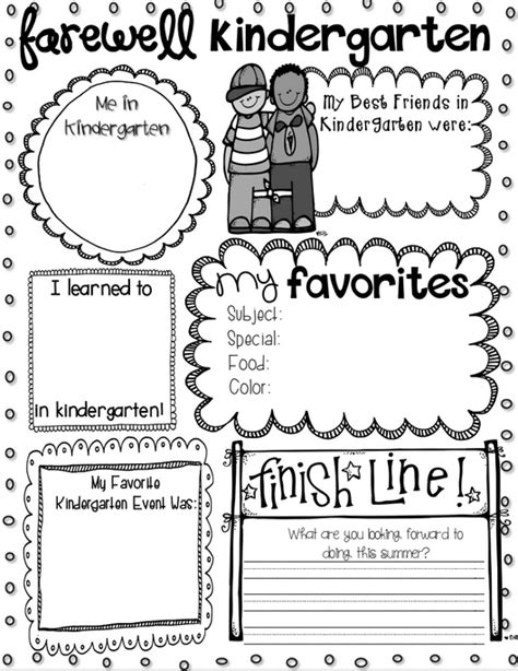 Kindergarten Activities End Of The Year | 15 best images of favorite end of year worksheet my