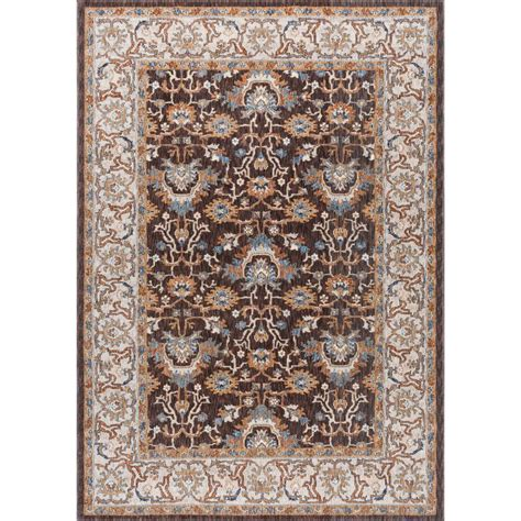 Area Rugs Home Depot 5x8 Tayse Rugs Fairview Brown 5 Ft 3 In X 7 Ft 3 In Area Rug Fvw3208 5x8 The Home Depot