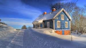 wallpapers for homes 1920x1080 deep winter blue house road desktop pc and mac wallpaper