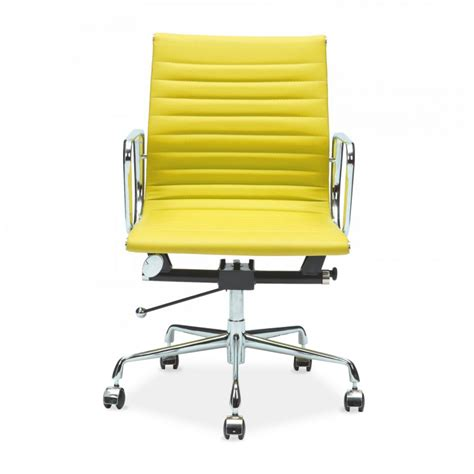 Office Chairs Yellow Yellow Eames Style Ribbed Back Office Chair