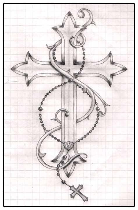 cross with rosary cross and rosery by ytse80 on deviantart