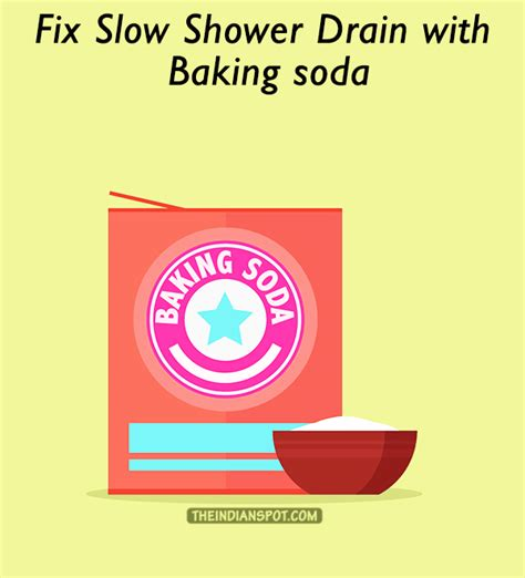 How To Clean Shower Drain With Baking Soda And Vinegar by Fix Shower Drain With Baking Soda