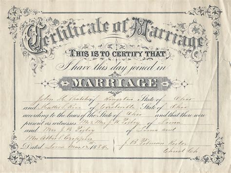 Pickaway County Ohio Marriage Records M Thatcher