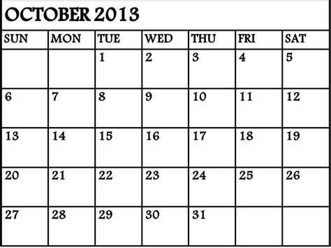 9 best images of printable calendar september october 2013