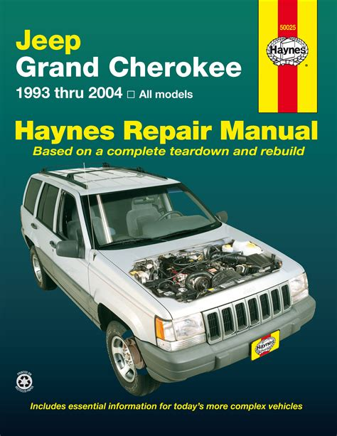 how to download repair manuals 1993 jeep cherokee electronic valve timing jeep grand cherokee 93 04 haynes repair manual haynes manuals