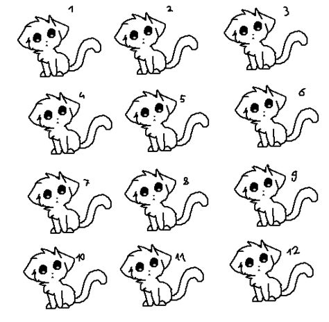 cat adoptables line art lineart kitty adoptable sheet base free by