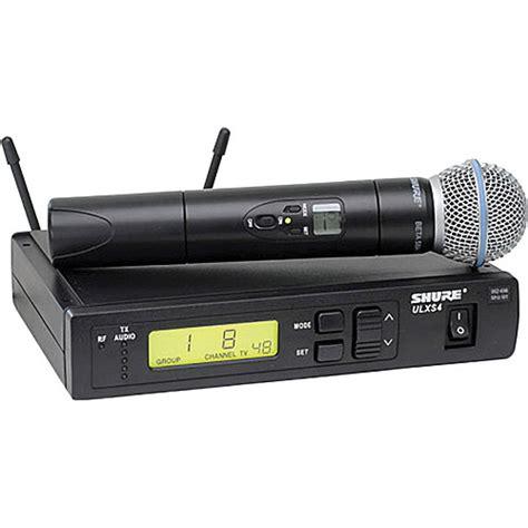 Mic Shure Ulx 4nkoper Alumenium Wireless shure ulx standard series wireless handheld ulxs24 beta58 g3