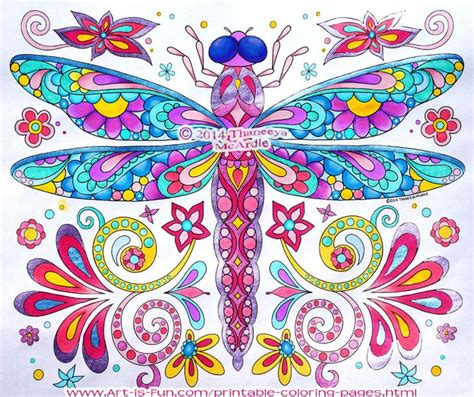 color pencil for coloring book dragonfly coloring page by thaneeya mcardle from quot groovy