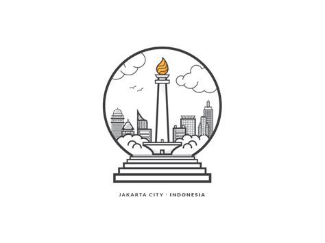 indonesia graphic design award jakarta city indonesia badge by steve lianardo dribbble