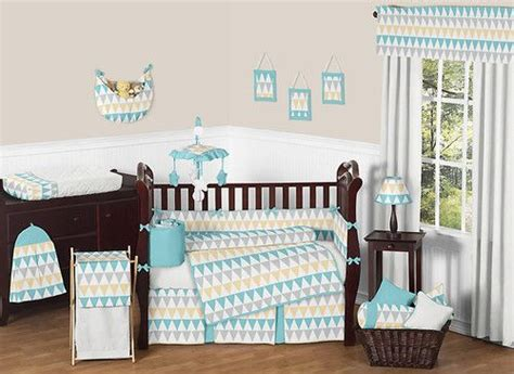 white nursery bedding sets modern turquoise white gray yellow gender neutral baby boy crib bedding set nursery