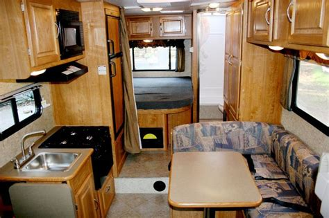 Class C Rv Interior by Small Class C Motorhome Interior Rv Rental Features