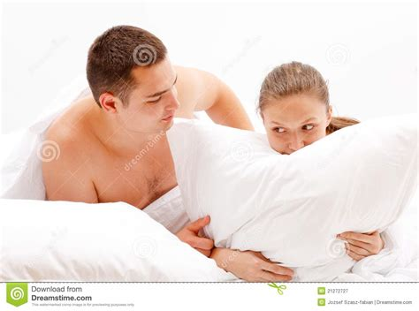 naked woman in bed young couple in bed royalty free stock photography image 21272727