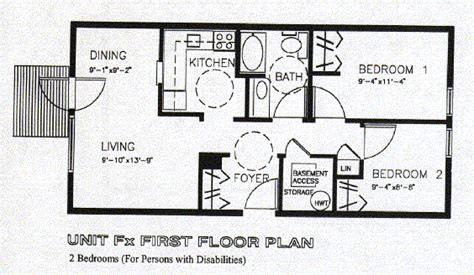fx floor plan alliance housing co operative unit fx 2 bedroom