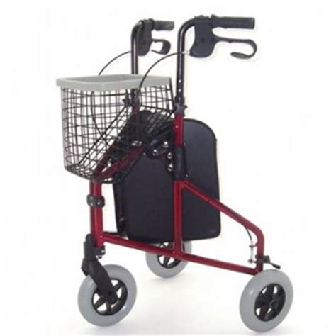 three wheel walker with seat three wheel walker with bag basket and tray folds flat