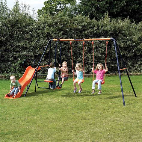 outdoor swing and slide sets hedstrom europa swing and slide set next day delivery