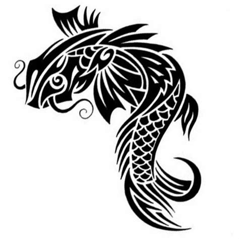 koi fish tribal tattoo tattoos book 2510 free printable stencils animals