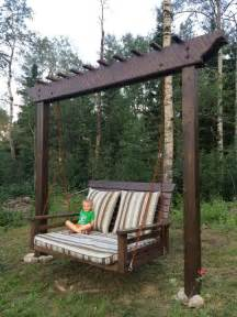 Pergola Swings by Pergola Swing Day Bed Swing Woodworking Creation By