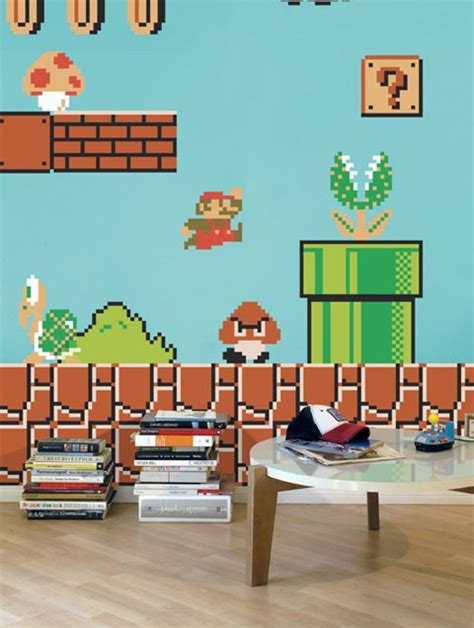 mario wall stickers cool wall stickers for mario themed room from
