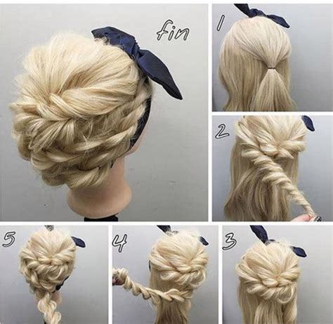 hairstyles 2017 tutorial easy tutorial for rope braided updo hairstyles 2017
