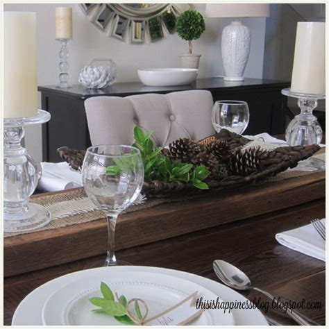 Houzz Dining Room Table Centerpieces Anytime Gourmet Simple Thanksgiving Table Decor