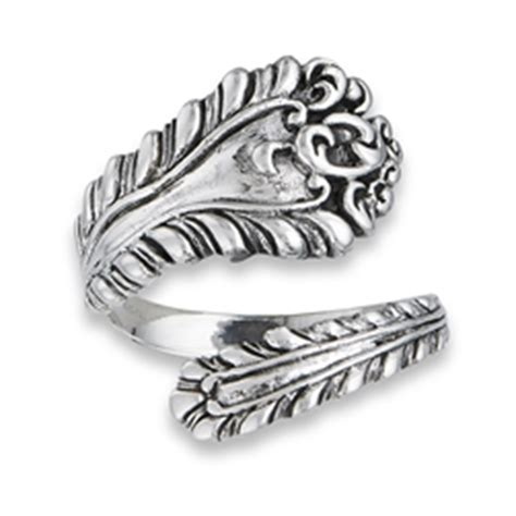 sterling silver antiqued spoon ring