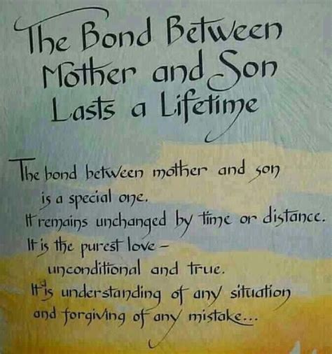 mother quotes love between a mother and son quotes