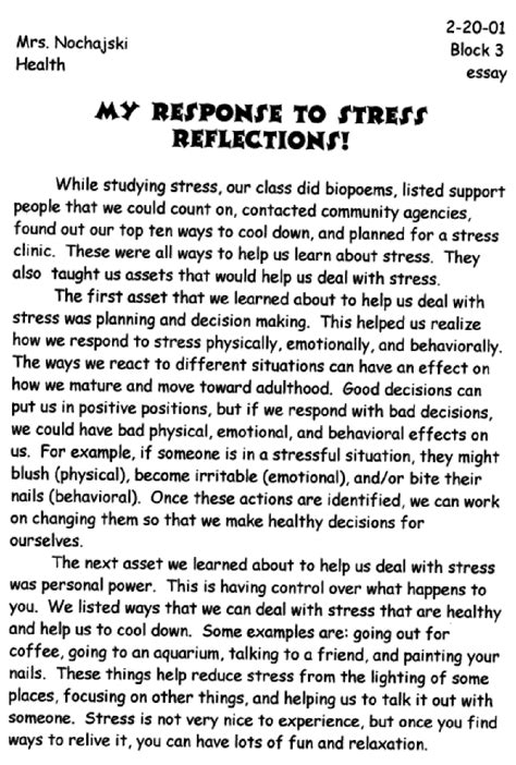 Avoid Stress Essay by Student Stress Essay Courseworkcomedk Web Fc2